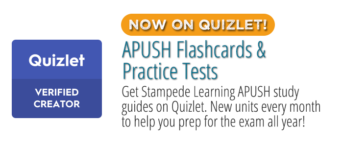 Quizlet APUSH Flashcards on Quizlet by Stampede Learning Systems