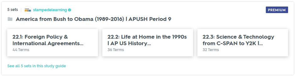 America from Bush to Obama (1989-2016) | APUSH Period 9 Study Guide on Quizlet by Stampede Learning Systems
